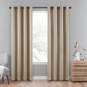 SINGLE PANEL Eclipse Cara Grommet Top Curtains NEW